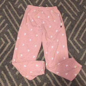 NWOT! Pink Varsity sweatpants